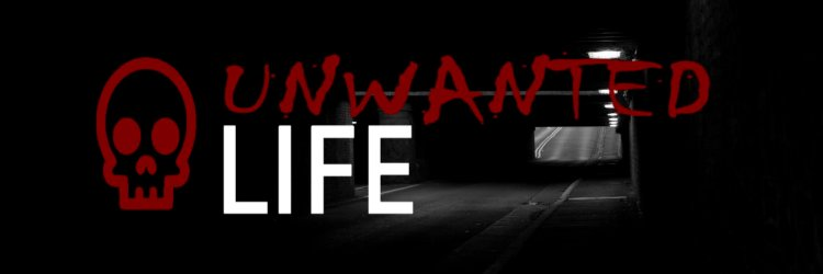 Unwanted Life's logo with a darker background
